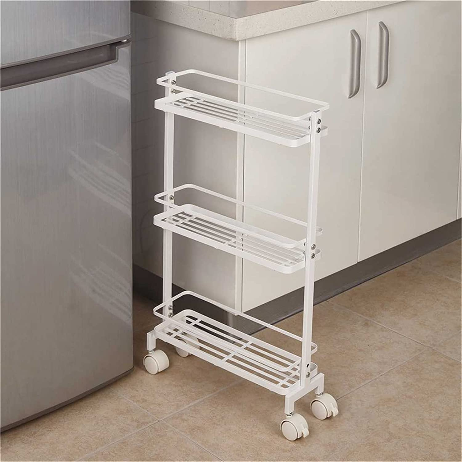 ALUNVA Kitchen Trolley Slim Slide Side Cart Storage Out Pull Colorado Springs Mall overseas