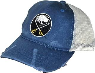 Buffalo Sabres Retro Brand Blue Worn Mesh Vintage Adjustable Snapback Hat Cap