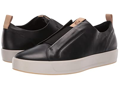 ECCO Soft 8 LX Retro Slip-On (Black/Powder) Men