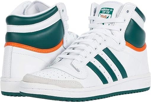 Footwear White/Collegiate Green/Orange