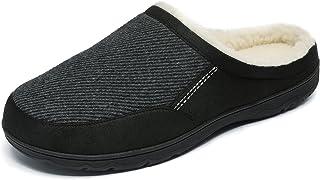 DREAM PAIRS دمپایی مردانه فوم حافظه راحت با روکش پشمی فازی ، کفش های سرپوشیده داخلی قابل شستشو در فضای باز