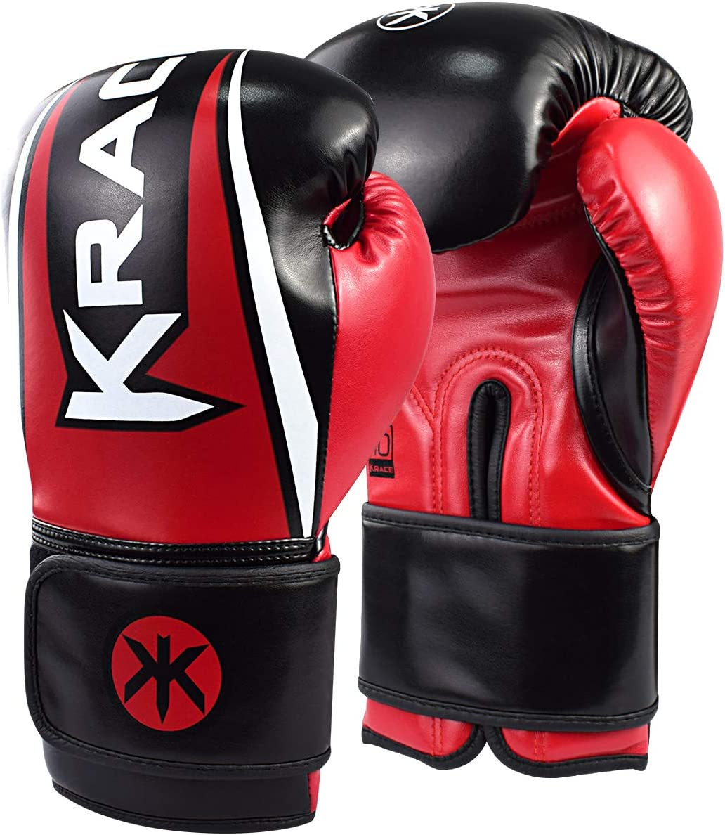 KRACE Boxing Gloves 6oz 8oz 10oz 12oz 14oz 16oz for Kids Youth Men Women, Training Muay Thai Gloves for Sparring, Punching Bag, Kickboxing, Focus Pads