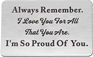 FEELMEM Always Remember I Love You for All That You are Inspirational Keychain Gift for Boyfriend, Couples, Family, Best Friend