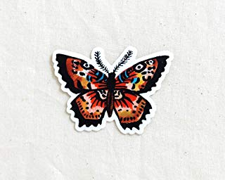 Butterfly Animal Sticker - Waterproof Vinyl Sticker - Adventure Sticker - Camping and Hiking Gear - Water Bottle Decal - Car Decal