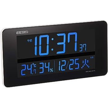 セイコー クロック 掛け時計 置き時計 兼用 電波 デジタル 交流式 カラー液晶 シリーズC3 白 DL208W SEIKO