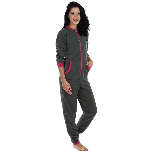 47fda82db612 Sleepyheads Women s Sleepwear Fleece Non Footed Color Onesie Pajamas  Jumpsuit