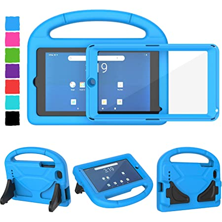 Amazon Com Tirin Walmart Onn 7 Tablet Case Surf Onn 7 Inch Tablet Case For Kids Built In Screen Protector Lightweight Shockproof Handle Stand Kids Case For Onn 7 Tablet 2020 2019 100015685 100005206 Blue