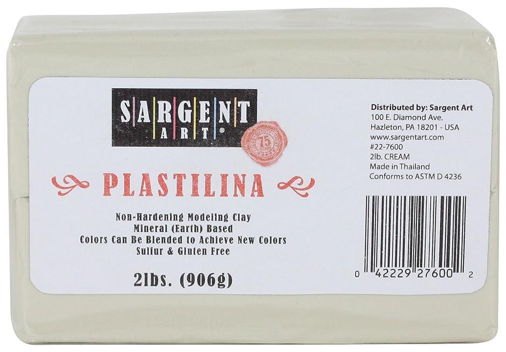 Sargent Art Plastilina Modeling Clay, 2-Pound, Cream