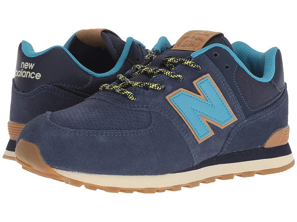 New Balance Kids GC574v1 (Big Kid) (Pigment/Cadet) Kids Shoes