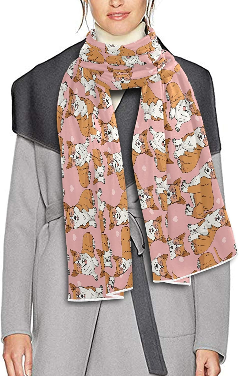 Scarf for Women and Men Corgi Shawl Wraps Blanket Scarf Thick Soft Winter Oversized Scarf Lightweight