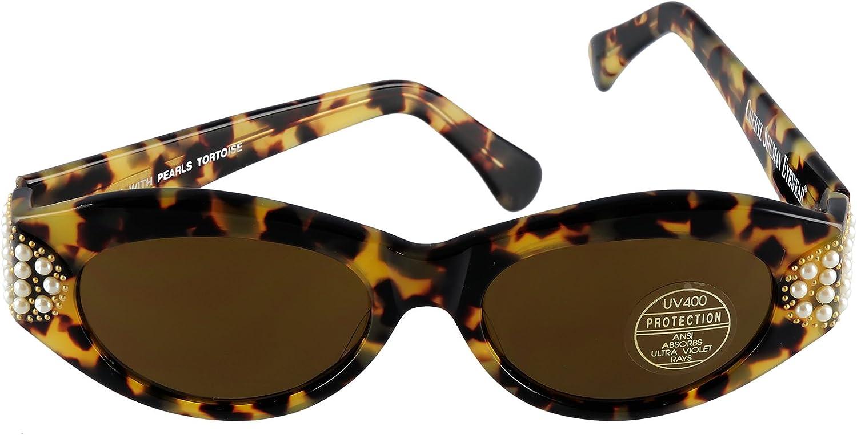Cheryl Shuman Sunglasses Wendi with Pearls Tortoise
