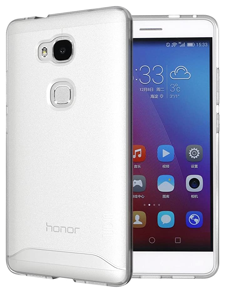 Huawei Honor 5X Case - TUDIA Full-Matte Arch TPU Bumper Protective Case for Huawei Honor 5X (Frosted Clear)