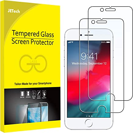 JETech Screen Protector for iPhone 8, iPhone 7, iPhone 6 and iPhone 6s, Tempered Glass Film, 2-Pack