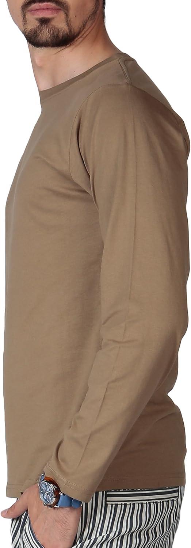 camiseta casual paquete de m/últiples camisetas de algod/ón pesado ajuste regular Blu Cherry Paquete de 2 camisetas b/ásicas de algod/ón liso en blanco de manga larga para hombre