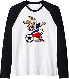 Funny Dabbing Dog Thailand Soccer Jersey Thai Football Team Raglan Baseball Tee