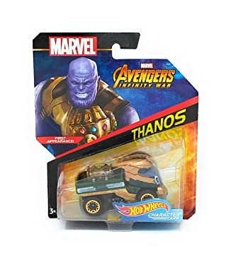 Hot Wheels Marvel Character Car Thanos (Infinity War) Die-Cast Vehicle