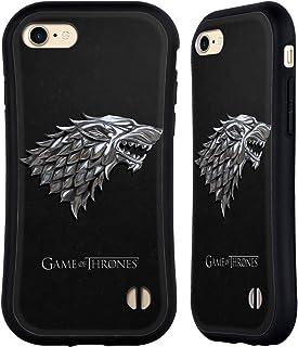 Head Case Designs Officieel Gelicentieerd HBO Game of Thrones Zilveren Stark Sigils Hybrid Case compatibel met Apple iPhon...