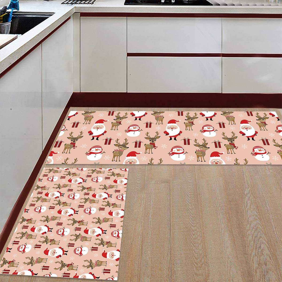 Womenfocus Kitchen Mat Set Anti-WearNon-Slip Mail order Rug Max 43% OFF 2 Floor Pi
