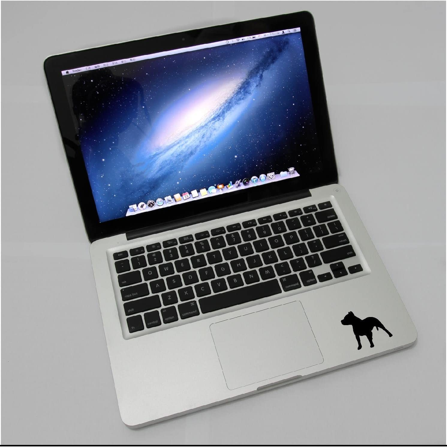 Laptop - Pitbull Dog pet Cute Skins Decal Soldering Stickers Black Complete Free Shipping Matte