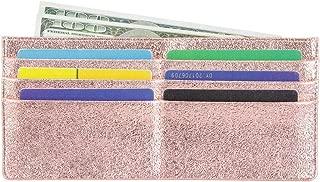 Women's Credit Card Wallet Slim Long Zipper Pocket Purse for Coin, Receipt, Cash Multi-Function Card Wallet for Women (Gold)