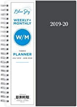 Blue Sky 2019-2020 Academic Year Weekly & Monthly Planner, Flexible Cover, Twin-Wire Binding, 5