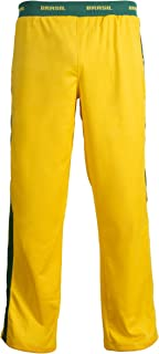 Unisex Brazil Flag Green Yellow Capoeira Kids Youth Martial Arts Elastic Sport Trousers Pants
