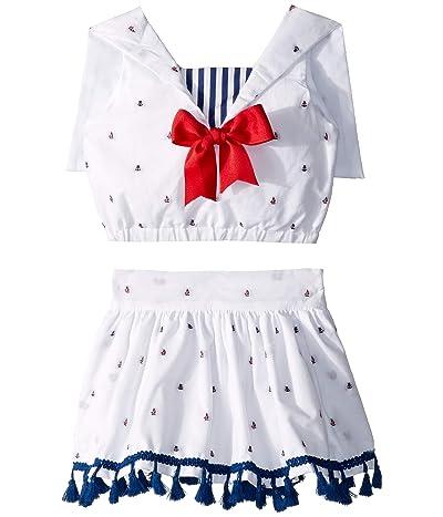 fiveloaves twofish Sailorette Dress (Toddler/Little Kids) (White) Girl