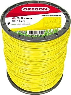 Oregon 69-421-Y - Cable cuadrado para cortacésped y cortadoras de césped, 3 mm x 144 m, 3 mm x 144 m, 3 mm x 144 m