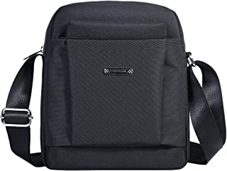 Men's Messenger Bag - Crossbody Shoulder Bags Travel Bag Man Purse Casual Sling Pack for Work Business (Black)