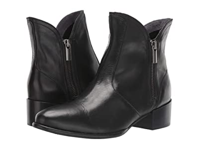 Seychelles Lucky Pennies (Black Leather) Women