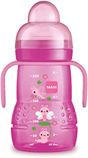 MAM Trainer Cup (1 Count), Trainer Drinking Cup with Extra-Soft Spout, Spill-Free Nipple, and Non-Slip Handles, for Girls ...