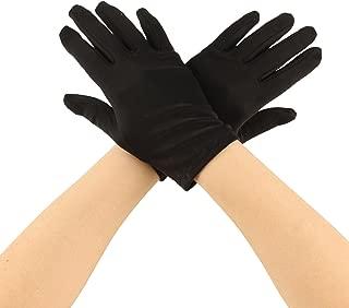 Matte Nylon Stretchy Wrist Length Plain Blank Thin Gloves Dress 1 Pair