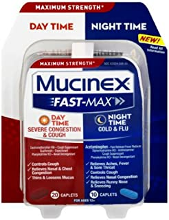 Mucinex Fast-Max Day/Night Severe Congestion & Cough Caplets, 30ct