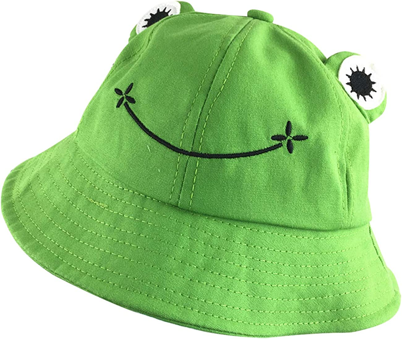 Sheshowbwing San Diego Mall Frog Bucket Hat Genuine Sun Wide Summer Cotton Packable