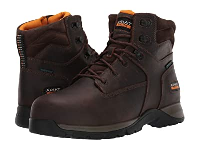 Ariat Edge LTE 6 Waterproof Composite Toe Work Boot (Dark Brown) Men