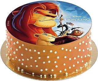Dekora - Disco Comestible del Rey León para Decoración de Tartas de Cumpleaños - 20 cm