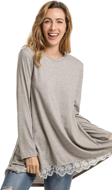 stile casual Maglietta a maniche lunghe da donna a maniche lunghe NUUR a maniche lunghe