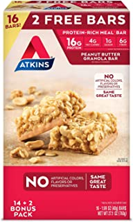 Atkins Meal Bar Peanut Butter Granola Pack 16 Bars - Delivery Within 2-3 Days