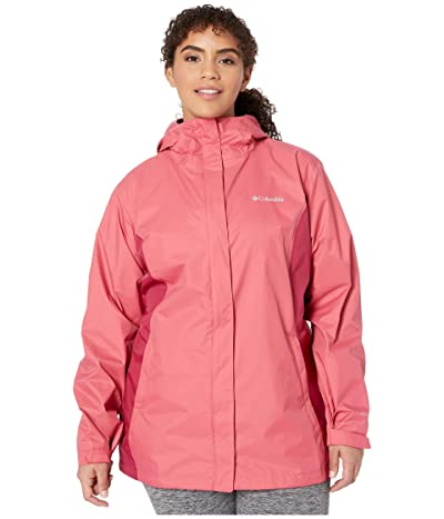 Columbia Plus Size Arcadia IItm Jacket (Rouge Pink/Red Orchid) Women