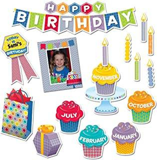 Creative Teaching Press HexaFun Happy Birthday Mini Bulletin Board Set (6958)