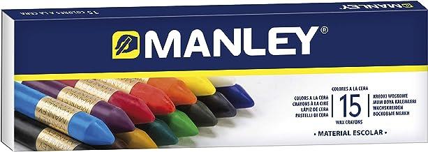 Manley 136124, Ceras, 15 Unidades, Tamaño Único, Multicolor