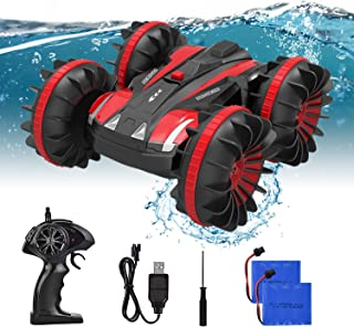 Rainbrace Waterproof Remote Control Car Boat RC Cars for Boys Kids Radio Controlled Truck All Terrain RC Truck Toys Gifts for Boys Girls 6 12 Years Old - Red