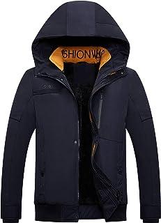 Men's Mountain Snow Waterproof Ski Jacket Hood Windproof Fleece Rain Jacket Winter Coat
