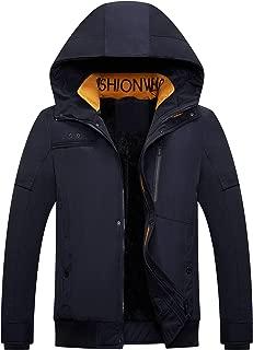 FTIMILD Men's Mountain Snow Waterproof Ski Jacket Hood Windproof Fleece Rain Jacket Winter Coat