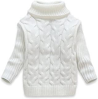 LIGHFOOT Baby Kids Boys Girls Long Sleeves high Collar Twist Knit Sweater Keep Warm
