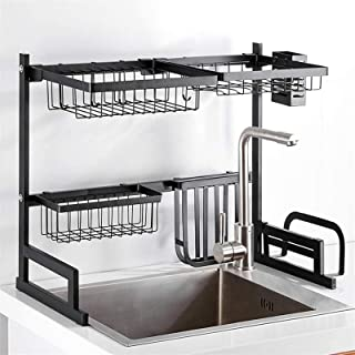 Égouttoir vaisselle en inox, Cuisine Draineur Étagère en acier inoxydable Plaque d'acier Ustensiles Compteur de rangement ...