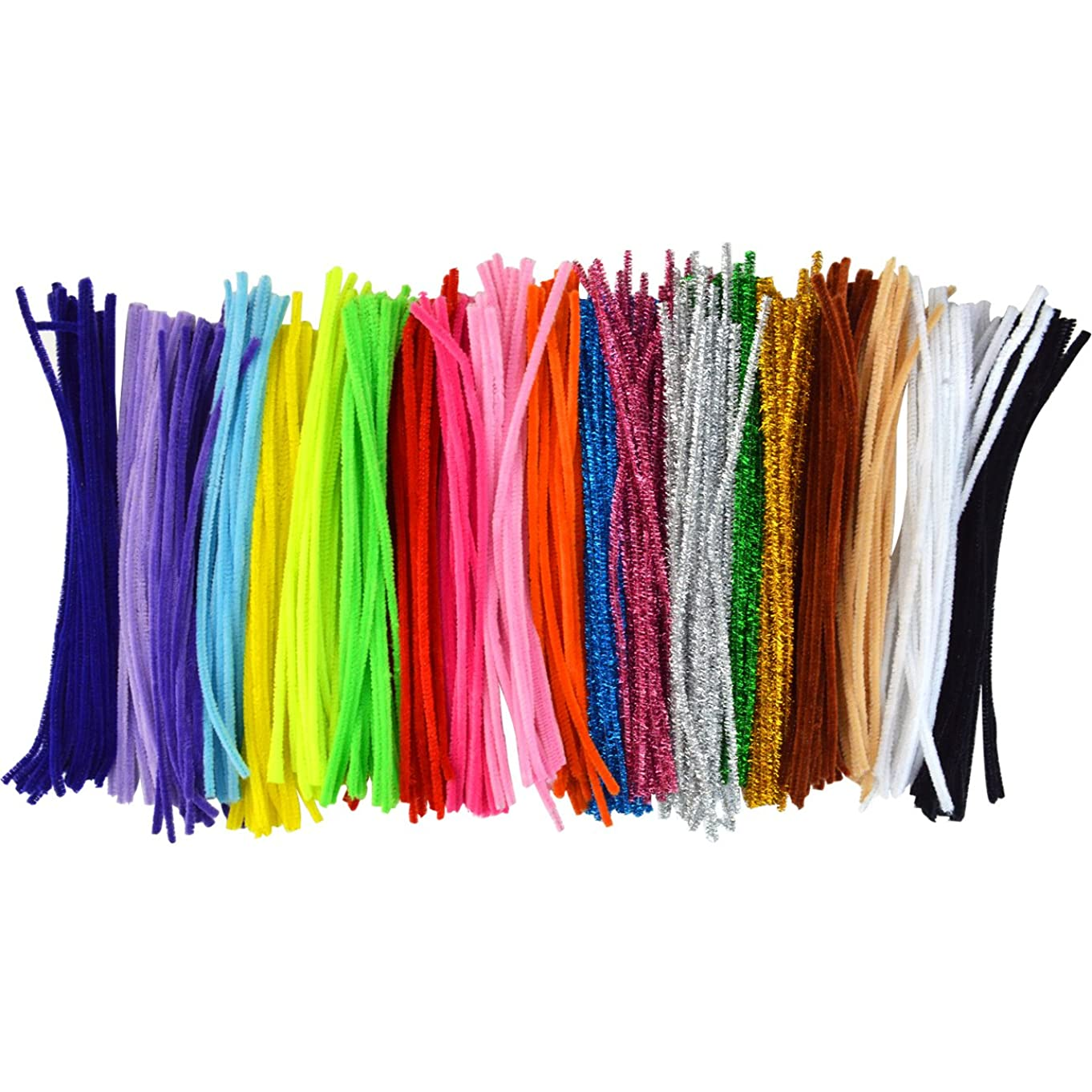 Pistha 400Pcs Craft Pipe Cleaners Chenille Stem 6mm x 12 inch Reusable Craft Bendable Twistable Children Puzzle Kindergarten Handmade DIY Art Supplies Home Decor Assorted Colors Assorted Colors