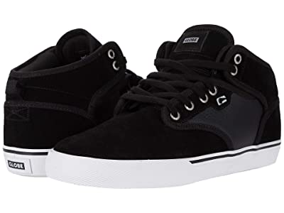Globe Motley Mid (Black/White/Perf) Men