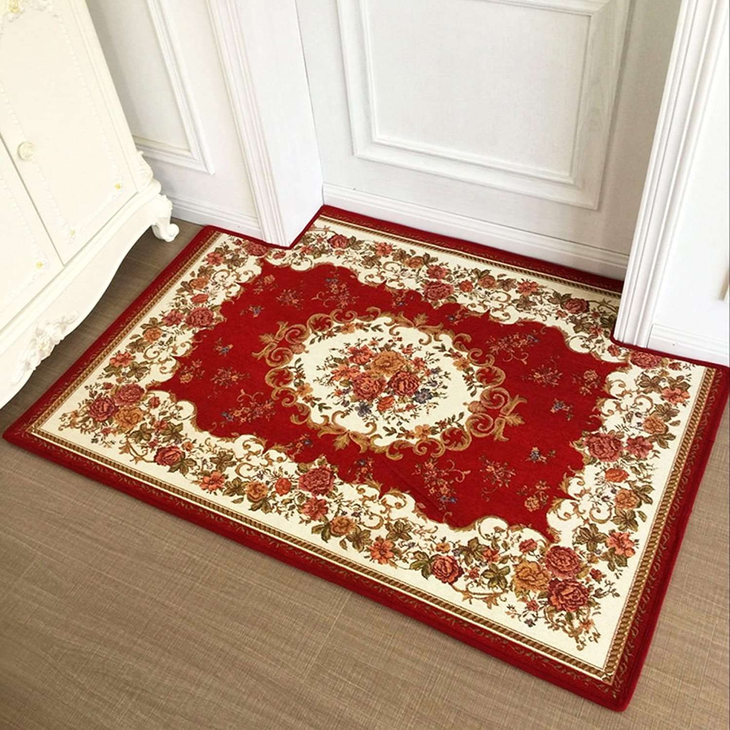 Mats Door Mats Home Entry Doormats Fashion Non-Slip Carpets Water Absorbent Non-Slip Mats Bedside Carpets Bathroom Entry Mats Soft and Comfortable (color   Red, Size   120  180cm)