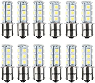 HOTSYSTEM 1156 1141 LED Light Bulbs DC12V 7506 P21W BA15S 18-5050SMD for Car RV SUV Camper Trailer Trunk Interior Reversing Backup Tail Turn Signal Corner Parking Side Marker Lights(Pack of 12,White)